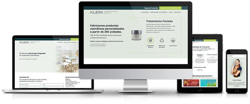 Desarrollo Web Adaptativo Laboratrios Klein